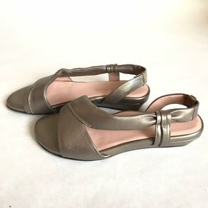ffb613ab607a90 Taryn Rose Shoes - Taryn Rose Ion Leather Demi-Wedge Sandals